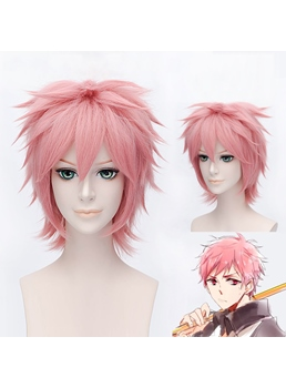 Shima Renzou Cosplay Short Pink Wig 12 Inches