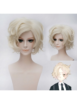 Gokotai Cosplay Short Light Golden Wig 12 Inches