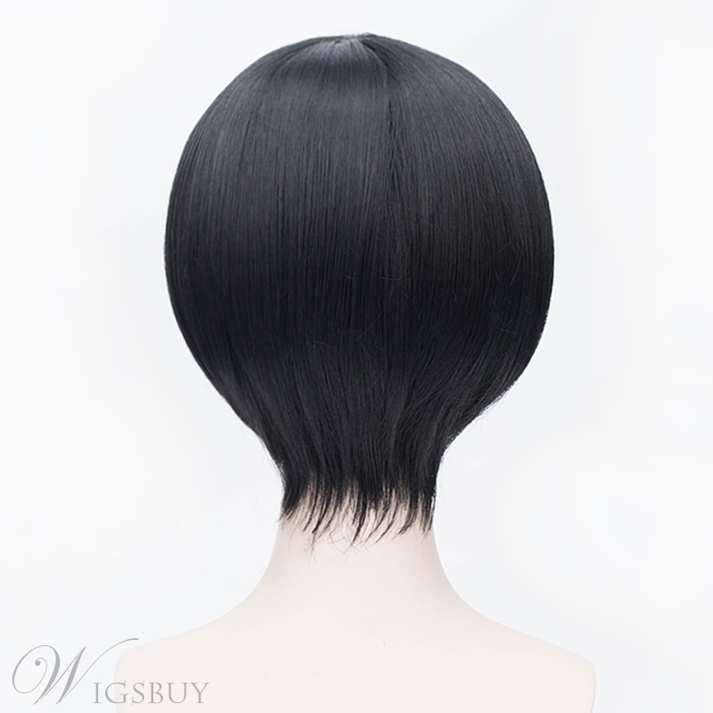 Cute Cosplay Short Black 12 Inches Wig
