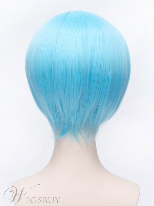Coolstyle Cosplay Short Blue 12 Inches Wig