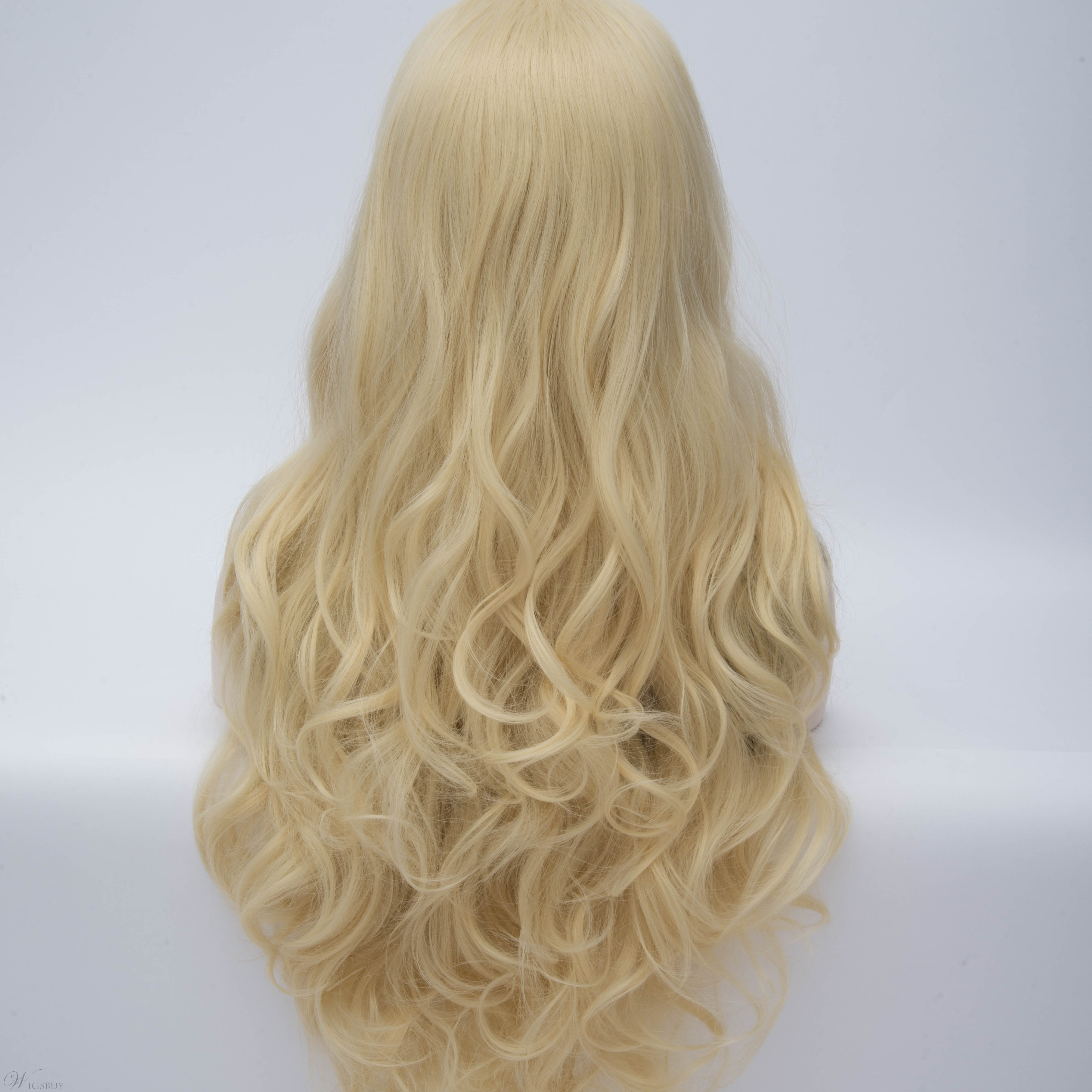 Sexy Blonde Long Wavy Women's Cosplay Party Wig 28 Inches
