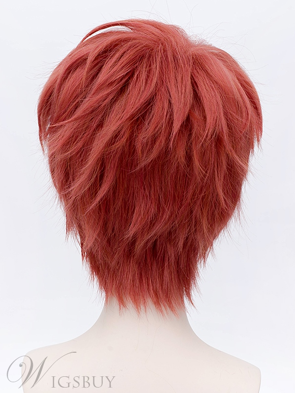 Fate Stay Night Emiya Shirou Short Red Cosplay Wig 12 Inches
