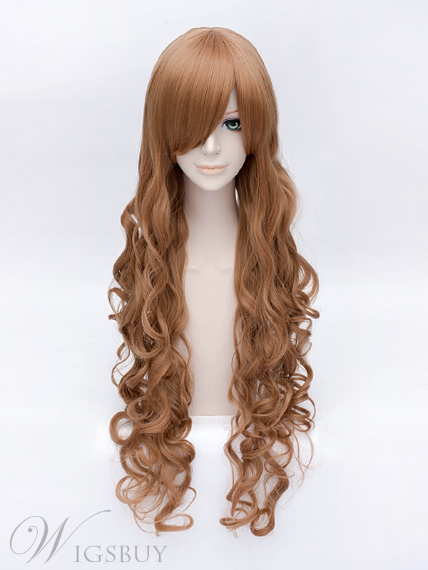 Cosplay Aisaka Taiga Brown Linen Wavy Wig 40 Inches