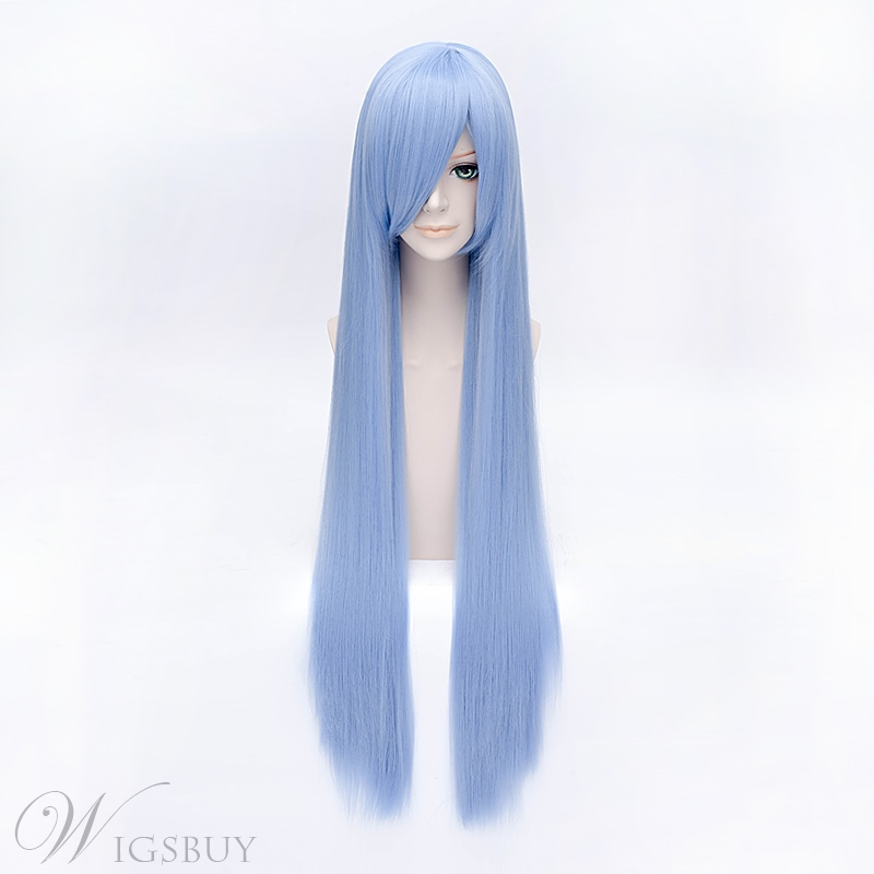 Hitman Reborn Bluebell Long Straight 40 Inches Wig