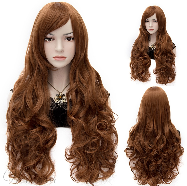 Sexy Anastasia Rich Brown Super Long Wavy Wig 32 Inches Wigsbuy