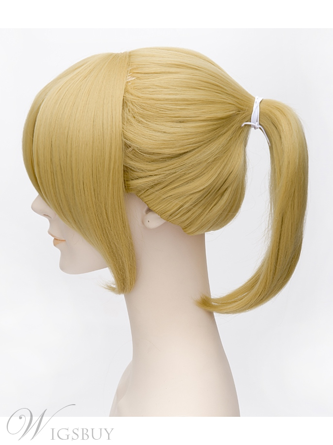 Vocaloid Cosplay Golden Wig 14 Inches