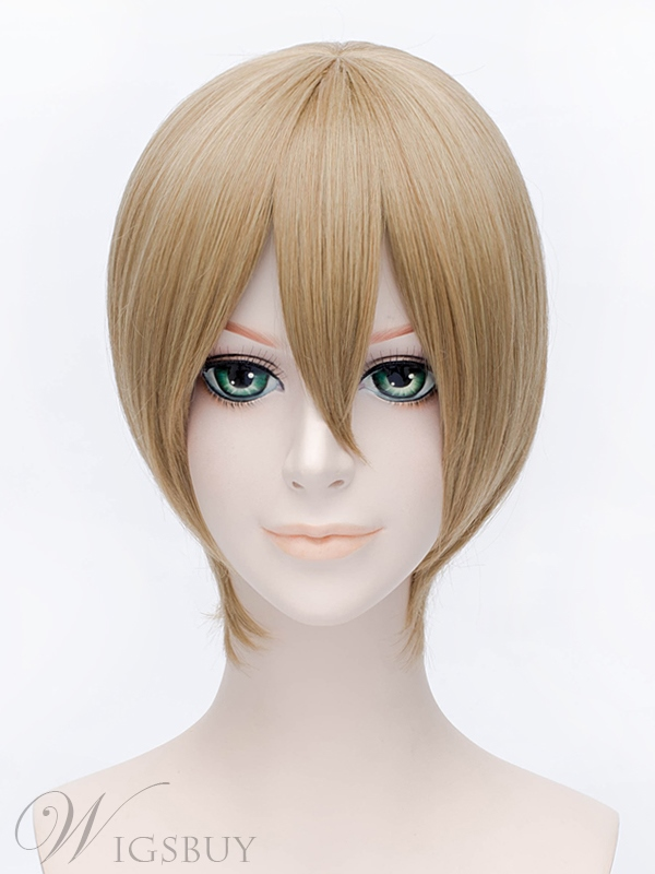 Okita Sougo Style Short Brown Wig 12 Inches