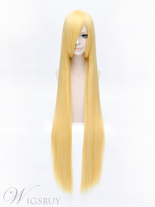 Stocking with Garterbelt Panty Golden Straight Wig 40 Inches