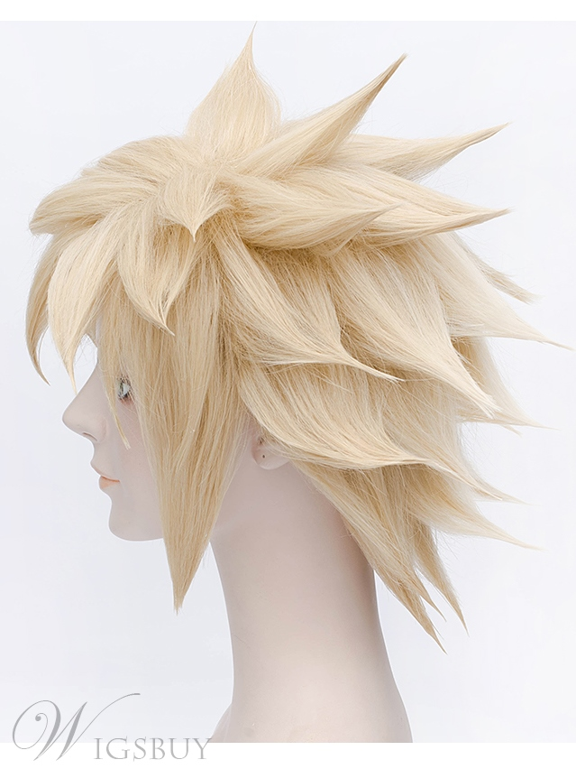 Final Fantasy VII Cosplay Short Golden Wig 12 Inches