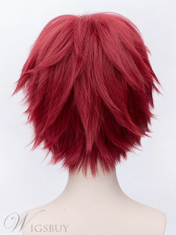 Cosplay Wine Red Short Wig 12 Inches