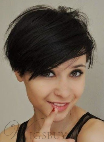 Cute Short Layered Pixie Haircut Synthetic Hair Capless Wig 6 Inches