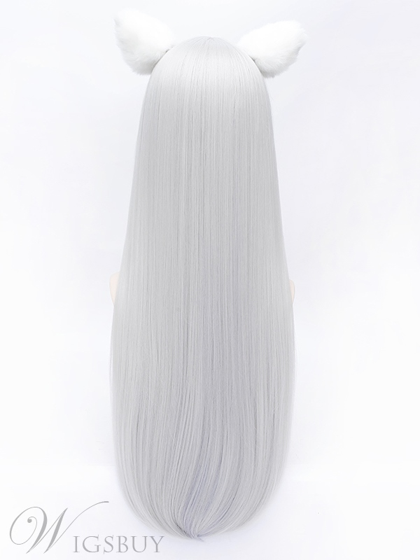 Grace Sliver Long Straight Wig 28 Inches for Cosplay