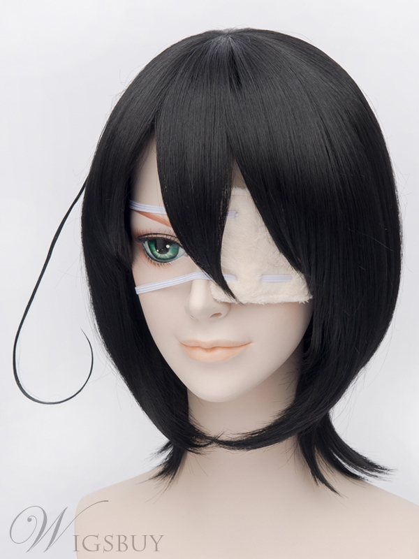 Another Misaki Mei Cosplay Black 12 Inches Wig