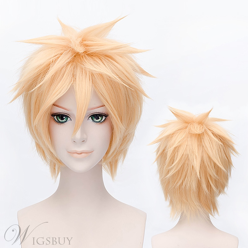Magic Cosplay Short Golden Wig 12 Inches