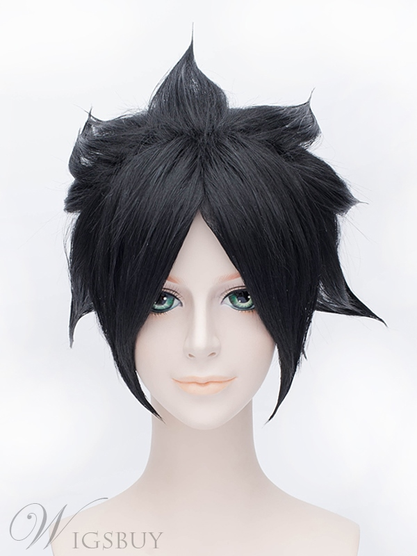 Naruto Uchiha Sasuke Cosplay Short Black Wig 12 Inches