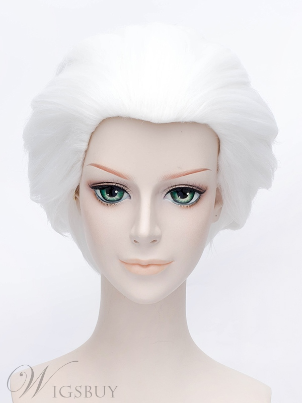 Cool Comic Cosplay Silver Short Wig 12 Inches