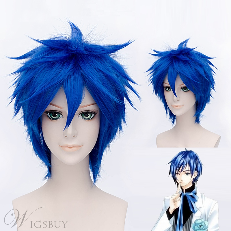 Akakura Shyouma Cosplay Short Blue Wig 12 Inches