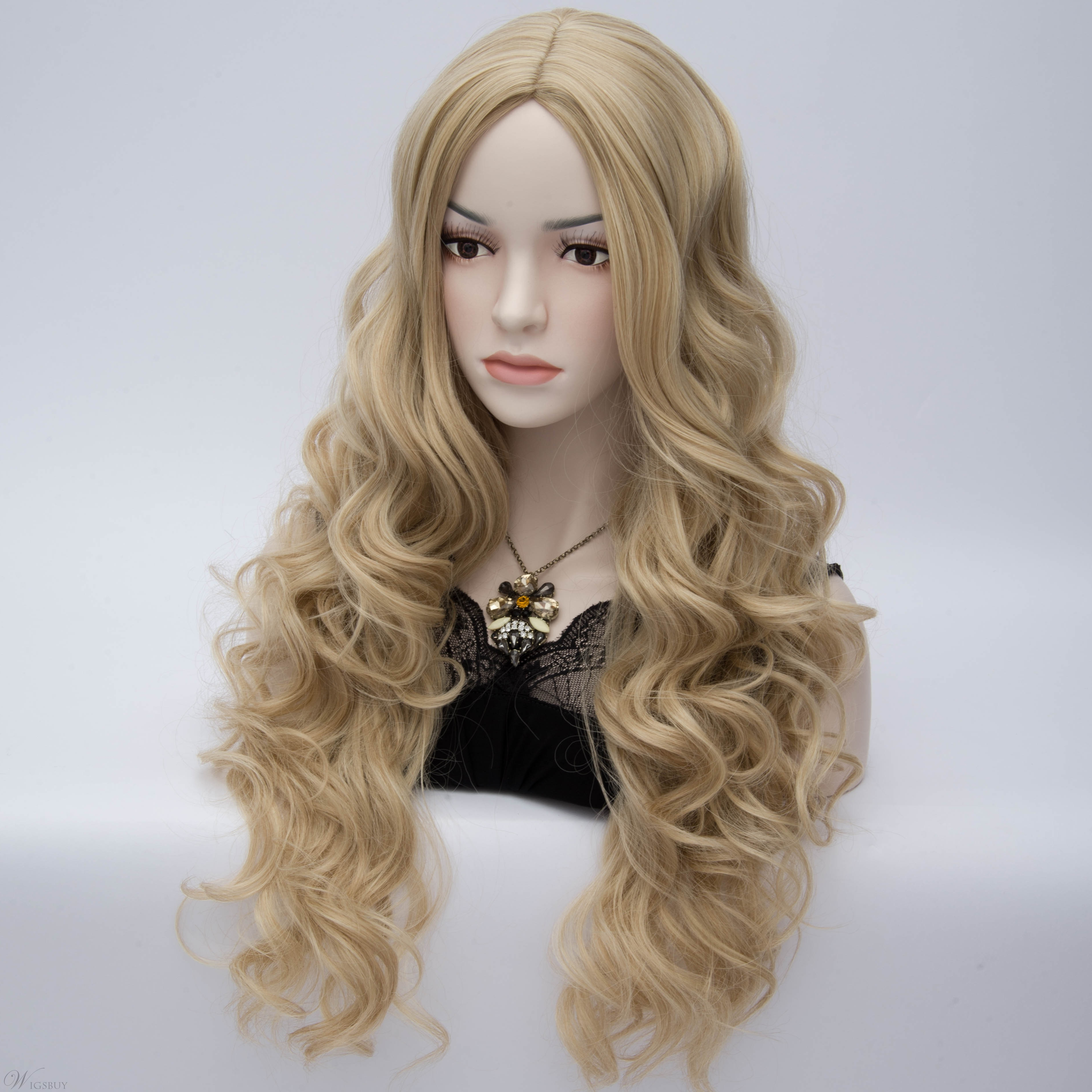 Charming Central Parting Long Wavy Heat-Resistant Cosplay Wig 24 Inches