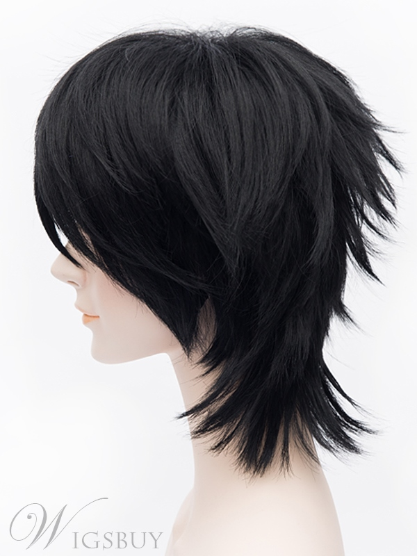 Okumura Rin Cosplay Short Black Wig 12 Inches
