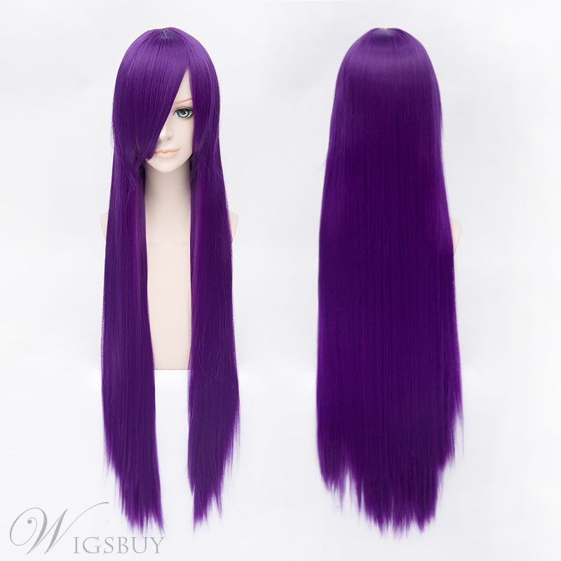 Cosplay Shirakiin Riricho Long Straight Purple Wig
