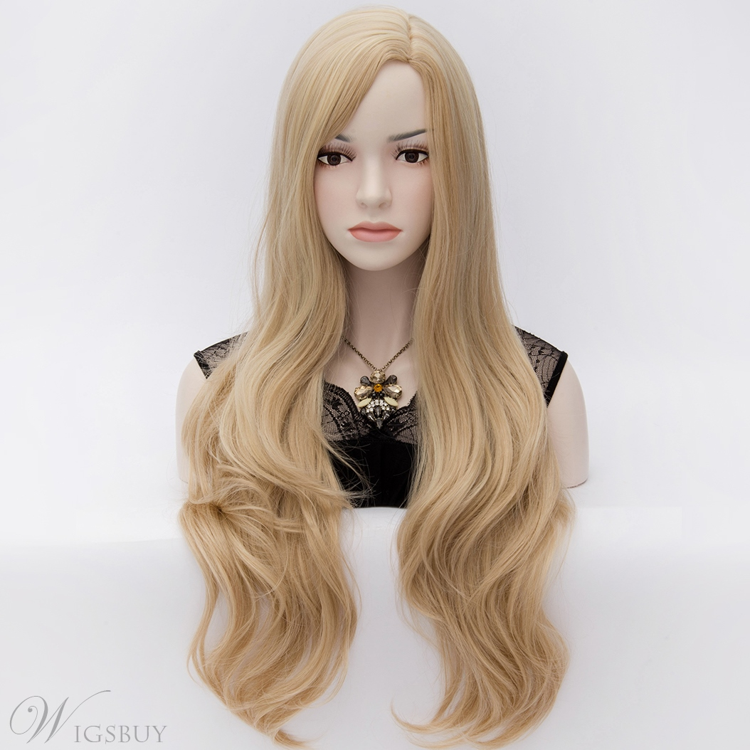 Quality Celebrity Fashion Natural Wavy Heat Resistant Long