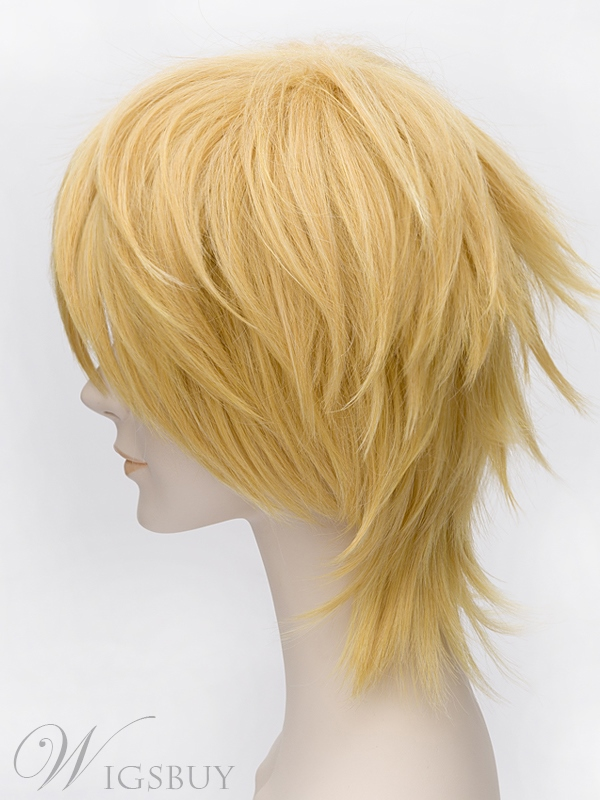 Popular Cosplay Wig Golden Short Straight 12 Inches