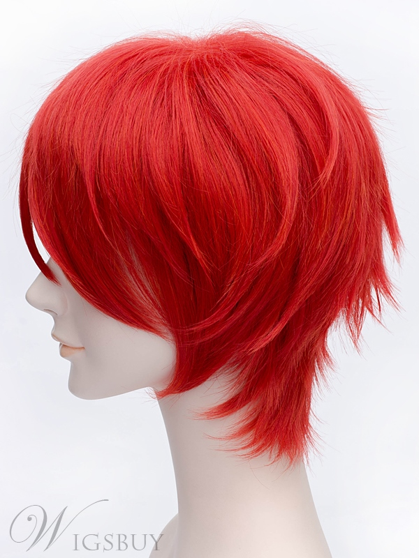 Akashi Seijuro Cosplay Short Red Wig 12 Inches