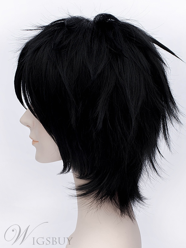 Big Hero 6 Hiro Cosplay Short Black Wig 12 Inches