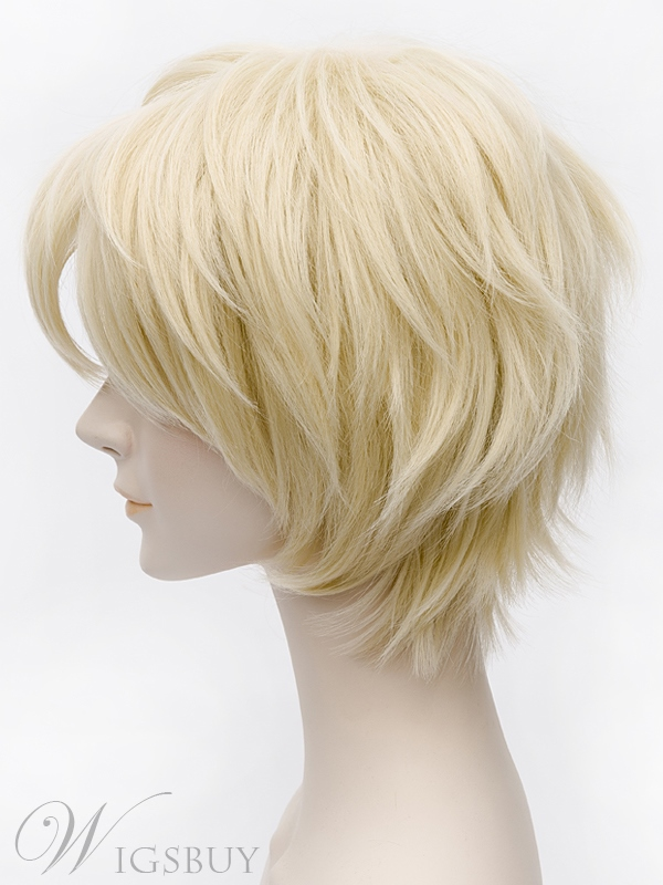 Blonde Cosplay Short Straight Bob Wig 12 Inches