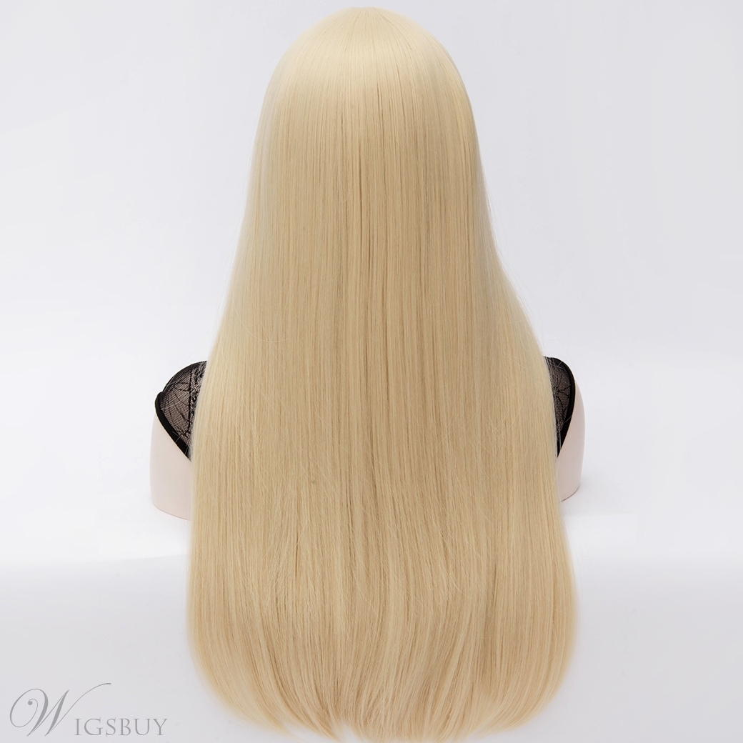 Beauty Fashion U Part Long Straight Blonde Full Hair Wig 24 Inches