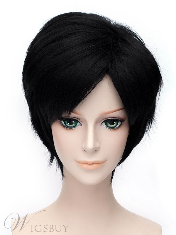 Full Time Master Yexiu Style Cosplay Short Black 12 Inches Wig
