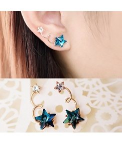 Cute Five-pointed Star Shaped Earrings