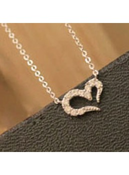 Sweet Heart Shaped with Rhinestone Necklace