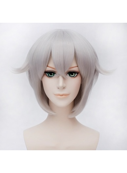 Hotarumaru Gray and Purple Short Wig 12 Inches for Cosplay