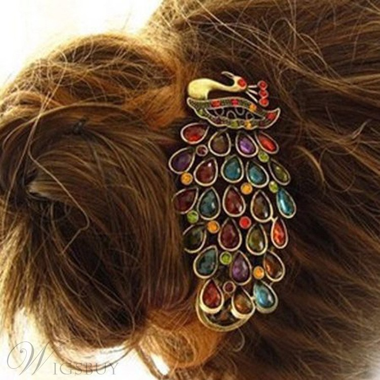 Vintage Peacock Shaped Hairgrip