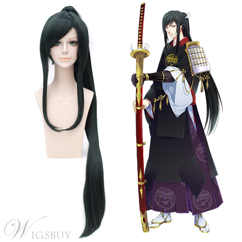 Taroutachi Cosplay Long Black Straight Wig 42 Inches