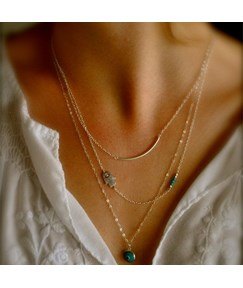 Euramerican with Pendant Alloy Necklace