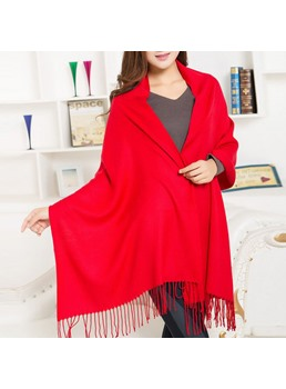 Pure Color with Tassel Women's Scarf