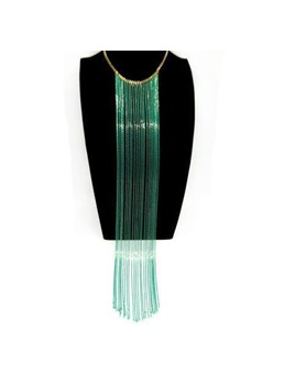 Fashion Tassels Decorated Alloy Necklace for Women