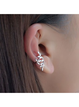 Leaves Shaped Silver Ear Cuffs(Price for a Pair)