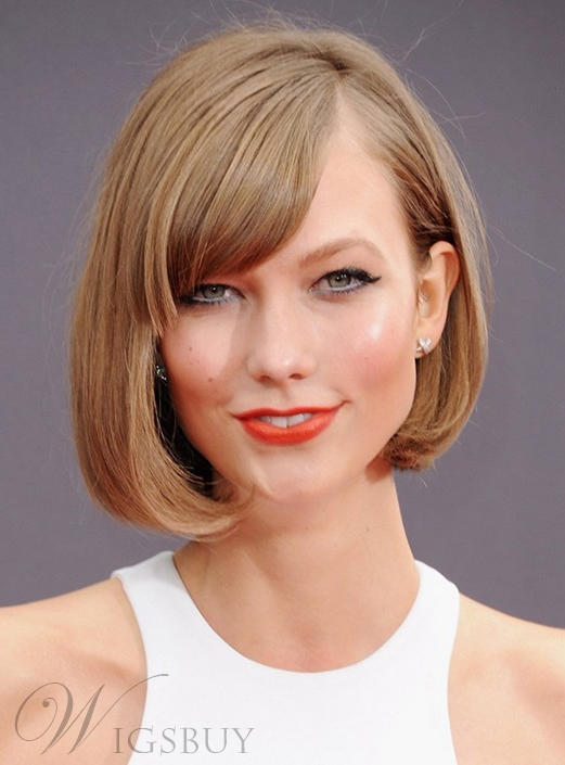 Sweet Bob Style Short Straight Synthetic Hair Lace Front Wig 10 Inches