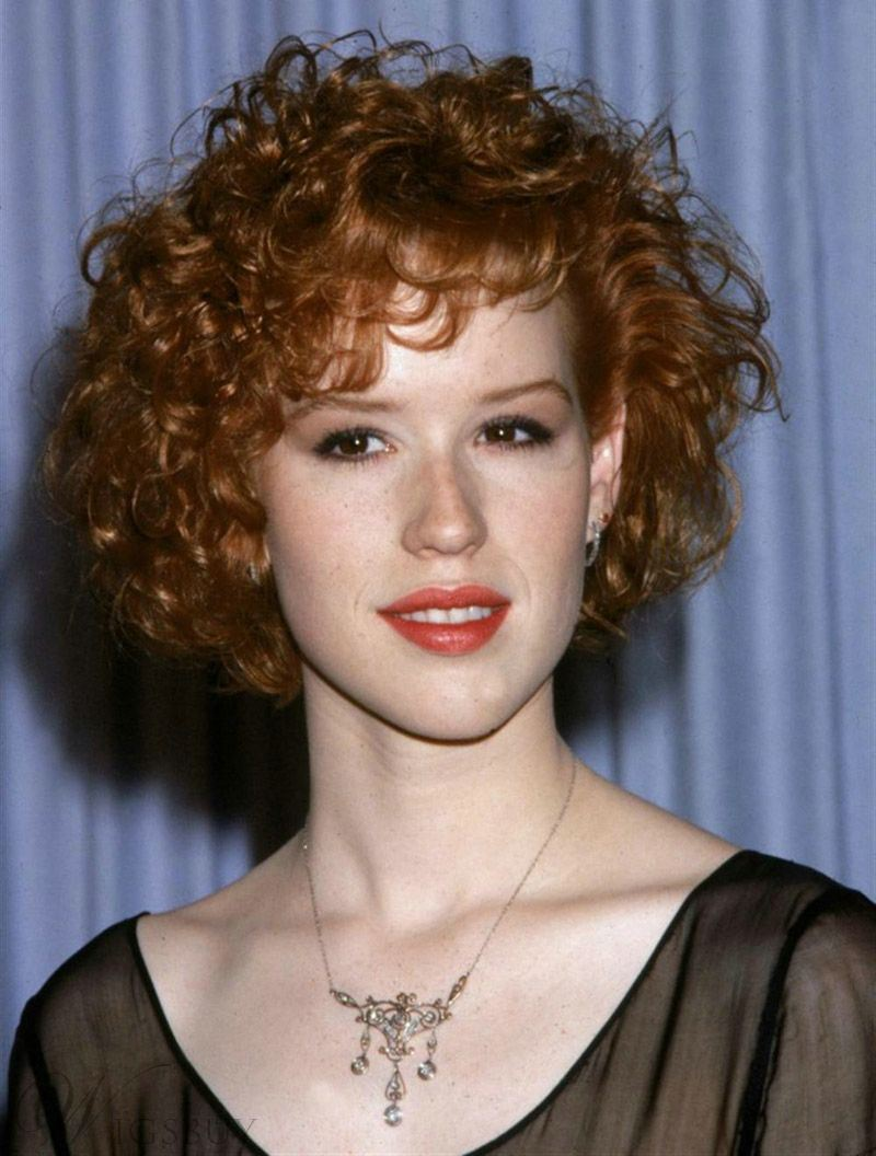Charming Curly Short Human Hair Lace Front Cap Wig 10 Inches