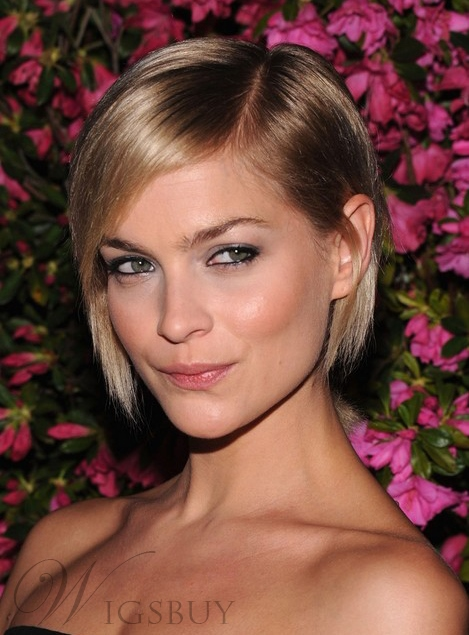 Pretty Noble BOB Short Straight Lace Front Cap Synthetic Hair Wig 8 Inches