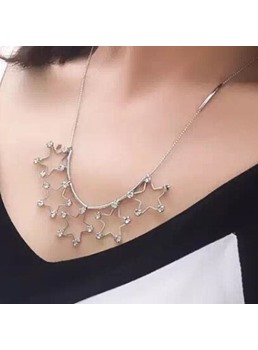 Hollow Out The Stars Crystal Necklace