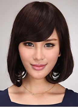Adorable Short Straight Bob Synthetic Hair Capless Wig 12 Inches