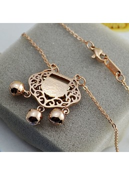 Long Life Lock Bell Pendant Necklace