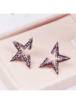 Fashion Stars Decorated Stud Earrings