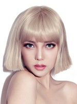 Attractive BOB Style Short Straight Synthetic Hair Capless 10 Inches Wig
