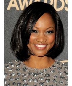Garcell Short Straight Sleek Bob Hairstyle Human Hair Lace Front Wigs 12 Inches