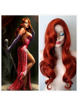 Sexy Long Wave Deep Side Swept Bang Synthetic Cosplay Wigs 28 inches